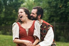 Margaret Kellas as Audrey and Adam Habben as Touchstone
