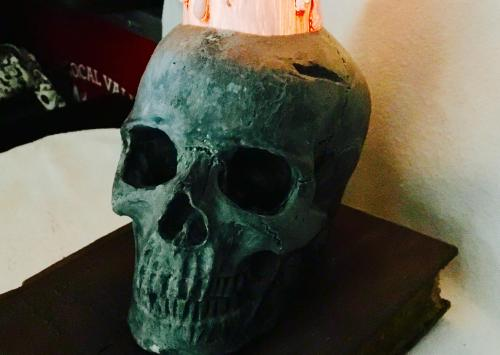 Final Details For Your Candlelit Skull & Book Prop (Paint & Age)