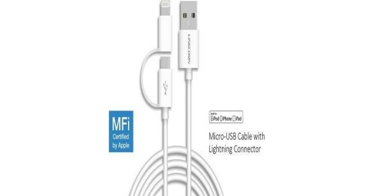 Linkcomn 2 In 1 Micro USB Lightning 1m For Samsung And