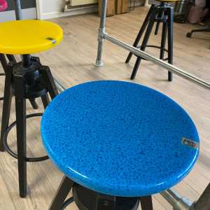 Blue and Yellow Stool