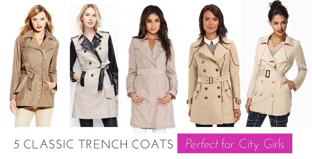 5 Classic Trench Coats Perfect For City Girls
