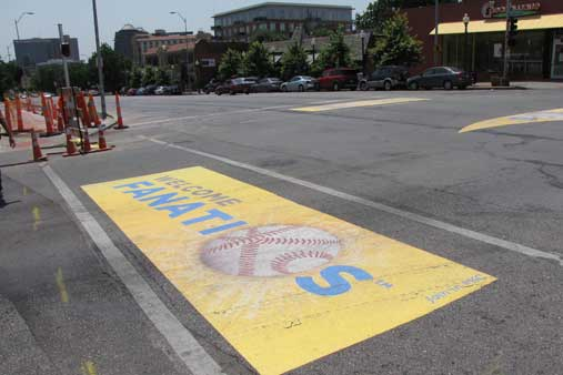 Welcome street graphics for All-Star game