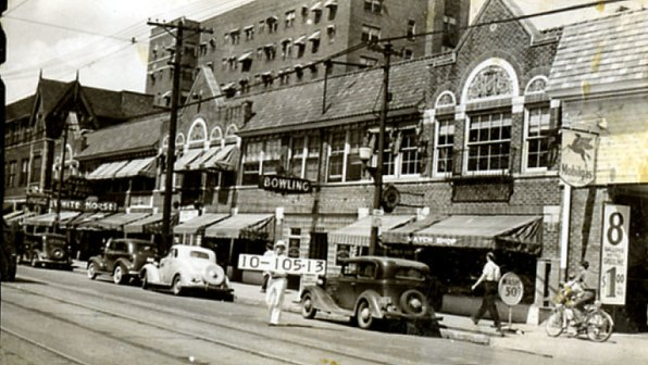 The 3500 block of Troost in 194. Do you remember any of these businesses?