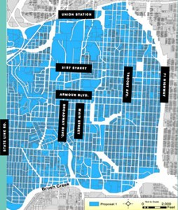 Boundaries of the proposed Midtown charter schools. Courtesy Midtown Community School Initiative RFP.