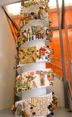 The toytisserie is made up of toys donated by Kansas City-area residents.