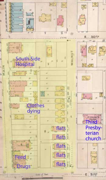The 1896-1907 Sanford Fire Insurance map shows the c=block.