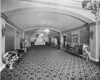 This 1928 photo is thought to show the lobby of the Isis Theater.