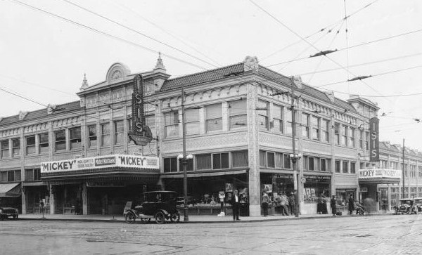 The Wirthman Building non the southwest corner of 31st and Troost (now gone) was built as a two-story building in 1917 and later additional floors were added.