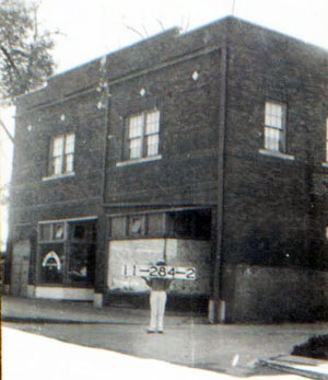 The front of the building in 1940.