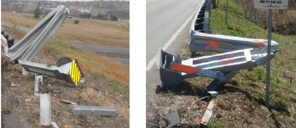 A Jackson County class-action lawsuit involves guardrail endcaps which it alleges can cause injury and death.