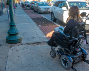 While it is easy to take a crack in the sidewalk for granted, for a person in a wheelchair it can be a major obstacle.