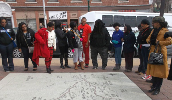 Erik Stafford's Black History tours of Kansas City often bring people through Westport, where they learn the role African Americans played in the development of Kansas City.