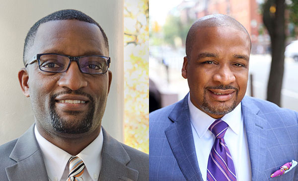 Dr. Mark Bedell and Dr. Ronald Taylor, candidates for superintendent of the Kansas City School Board.