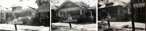 Archibald Street homes in 1940.
