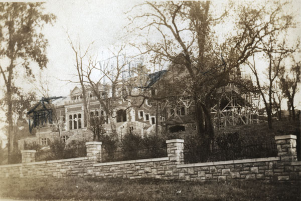 Construction began in 1919 on Epperson House, a 56-room brick mansion at the southwest corner of 52nd and Cherry. Other members of the Kansas City elite also built on the block, which was gradually incorporated into University of Kansas City, started in 1929. Like several of the other fine homes, Epperson House was transformed from a single family home into a part of the educational institution.