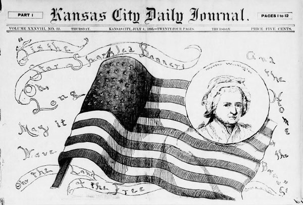 """In 1895, the Kansas City Journal celebrated the Fourth of July with a special issue completed edited by women. The issue was a novelty in a male-dominated world of journalism, and received mixed reviews for its coverage and analysis of events from temperance to suffrage to the role of the """"new woman."""""""