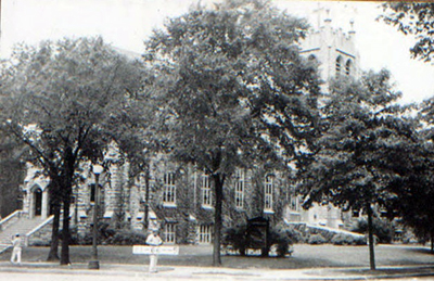 Trinity United Methodist Church, seen here in these 1940 photos, purchased its site at the northwest corner of Armour and Kenwood in 1919.