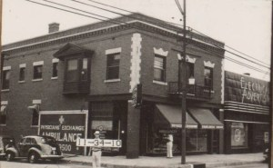 """At the south end of the block, the corner of 31st Terrace and Main Street was home for many years to the Kansas City Ambulance and Funeral Company, which advertised its services in 1914 for """"sick and injured white patients"""" and provided limousines to take convalescing patients to and from all depots."""