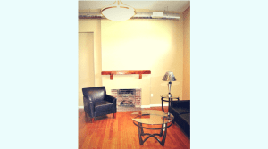 Furnished two bedroom apartment living room