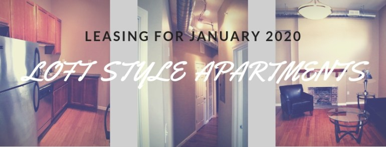 One or two bedroom units available January 2020