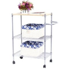 Metal Kitchen Shelf Cabinets Color 澳美佳迷你三层餐车置物架amjmt047sw 收纳架 厨房架 金属层架 餐车 推 推车 60 35 8