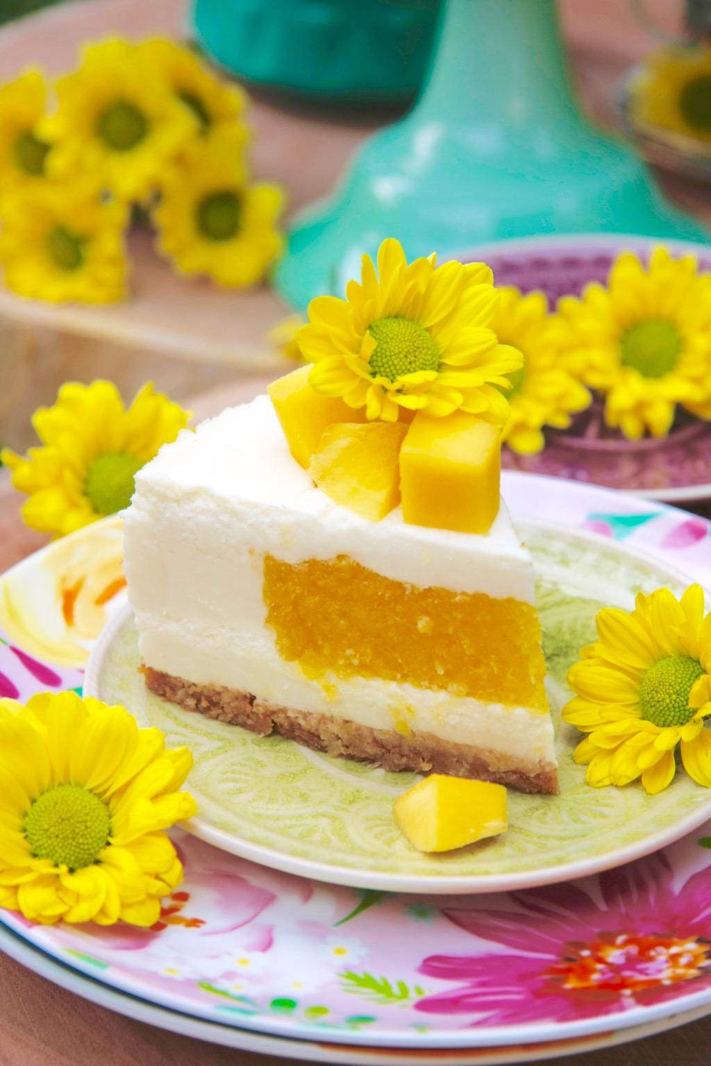 Tarta de yogur y mango 7