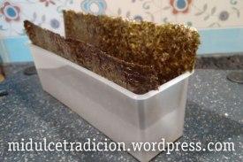 Molde para sushi con alga nori