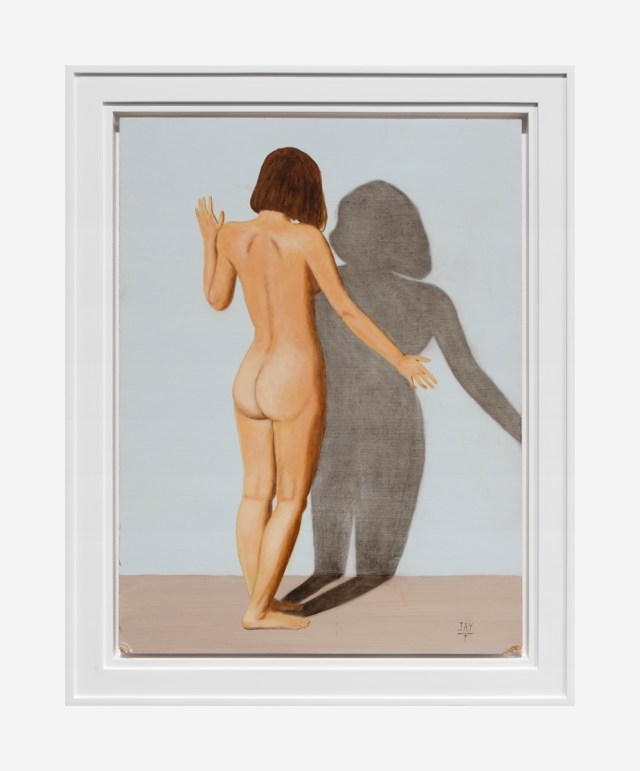 Jay Tucker, Clare and Her Shadow,, 1994. Alkyd and oil. Private Collection, Los Angeles.