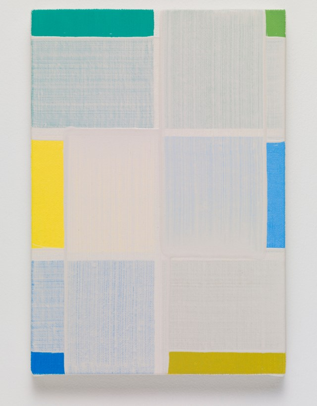 chart, 2015. Oil on canvas. 28 x 19.3 x 2 cm; 10 ¾ x 1 ½ x ¾ inches.