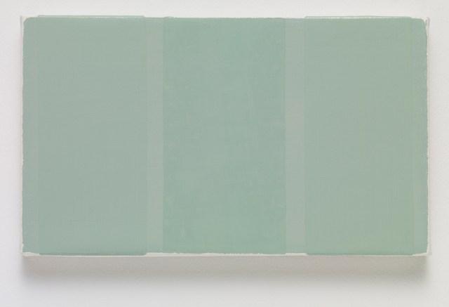 BKB, 2015. Oil on canvas. 14 x 24.3 x 2.3 cm; 5 ½ x 9 ½ x ⅞ inches.