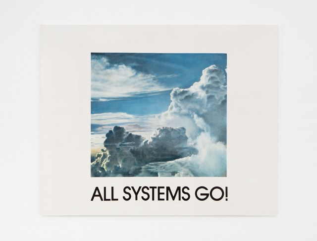All Systems Go, 1985. Hand-colored oil on silver gelatin photograph. 48 x 60 inches.