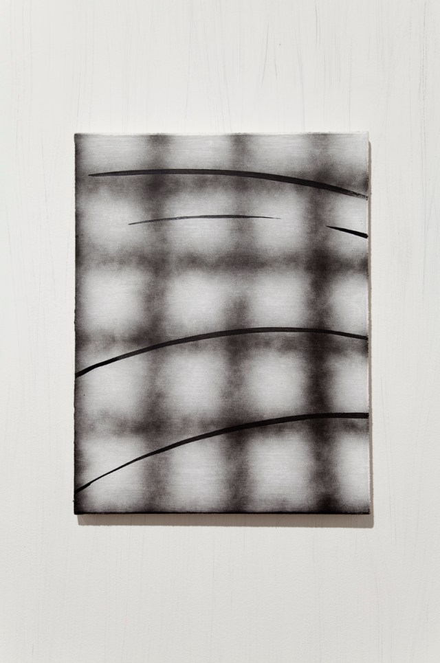 Conny Purtill, The Ground, After Choki, 2008-2009. Enamel and india ink on canvas. 17 x 22 inches.
