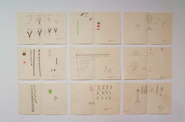 Richard Stolarik, Untitled works on paper, 2008.