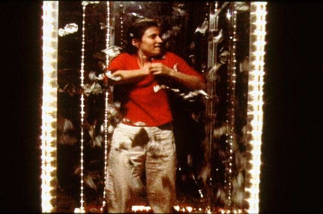 Michelle Hines, Cumulative drag: episode one (video still), 1999. VHS. 10 minutes.