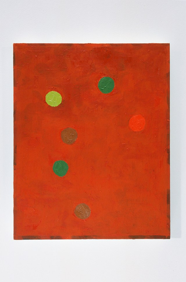 Richard Hawkins, Red Painting with at least 6 Intensities, 2003. Oil on linen.