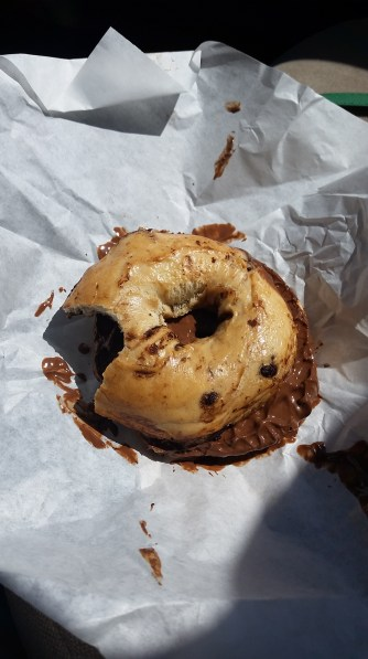 Chocolate Chip Nutella Bagel