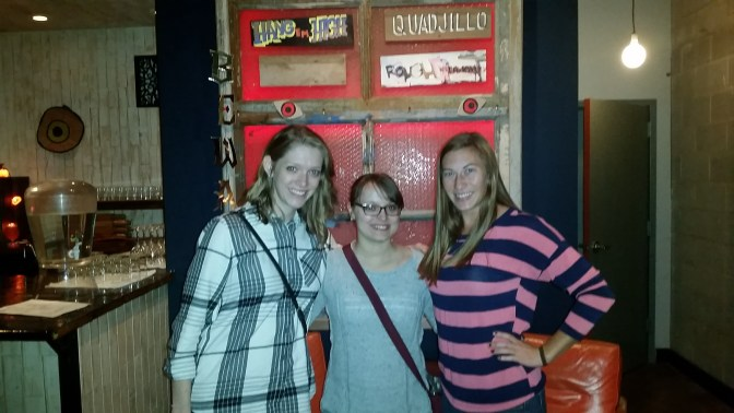 Sarah, Paige, and I