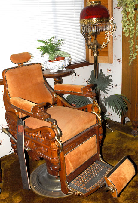 antique wood barber chair cover hire dumfries c 1900 e berninghaus the time machine this