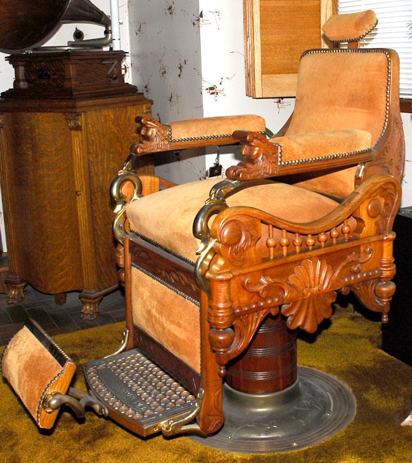 "hercules folding chair canvas covers nz antique c.1900 e. berninghaus ""the time machine"" barber ""hercules"", suede, brass, restored ..."