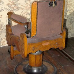 Antique Wood Barber Chair Cover Hire Central Coast Oak And Suede Reclining Hydraulic Koken In Fantastic Due To Our Moving Downsizing A Mind Blowing Collection Of Authentic American Furniture From Ca 1890s Superb Condition Is Up For Sale