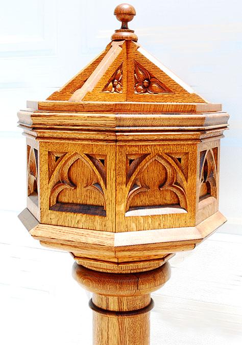 SOLD Antique American oak solid wood real Baptism Bath