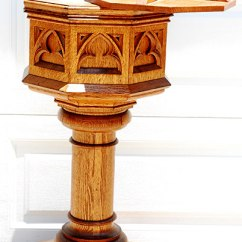 Antique Wood Chair 7 Chairs Photography [sold] American Oak Solid Real Baptism Bath Stand From Church 49″ Tall – $699 ...