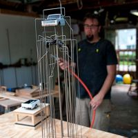 Artist Josh Wilichowski at his studio.