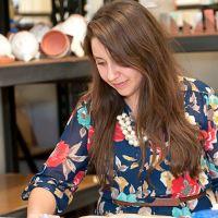 Artist Catie Miller at her Red Star Studio.