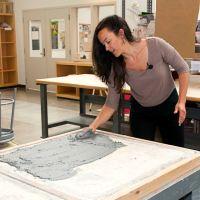 Artist Suzanne Torres at her studio at UW-Madison.