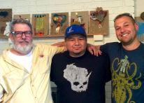 LtoR: MAS artist, Joe, Frank, Jonathan