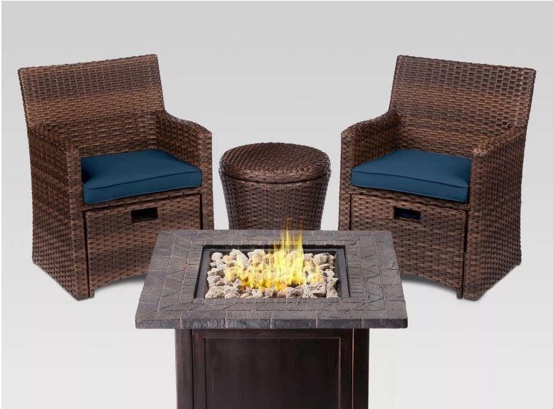 nice savings halsted 5pc wicker small space patio furniture set