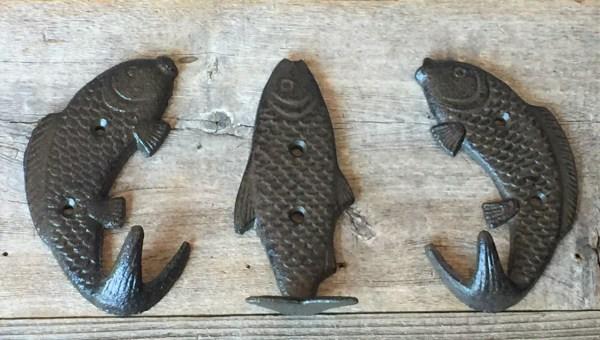 Fish Coat Hooks Includes 3 Midwest