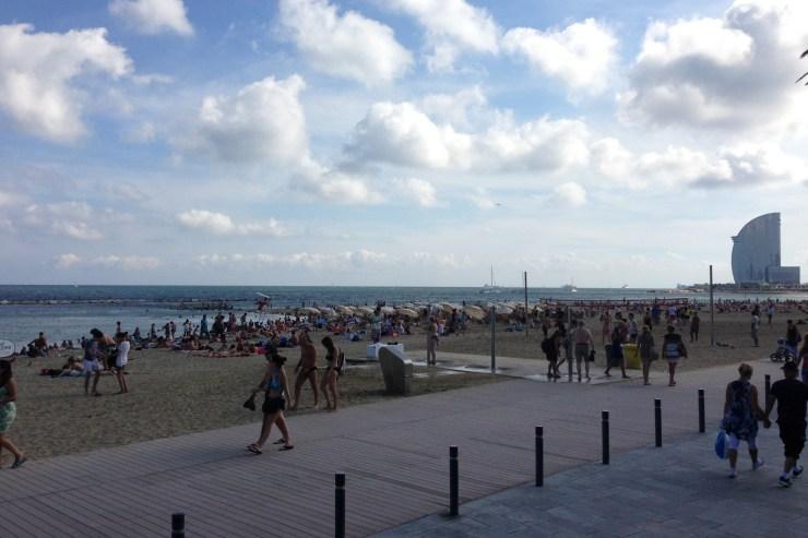 La Playa en Barcelona
