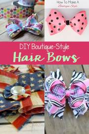 diy boutique-style hair bows